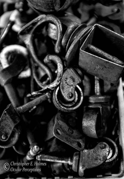 Photograph - Spare Parts - Bw by Christopher Holmes