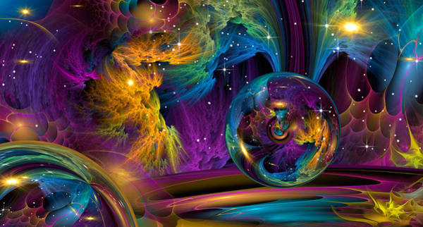 Fractal Landscape Digital Art - Sparkle by Phil Sadler