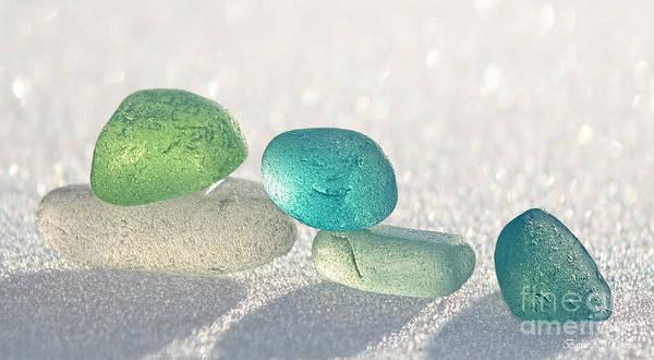 Wall Art - Photograph - Sparkling Sea Glass Friends by Barbara McMahon
