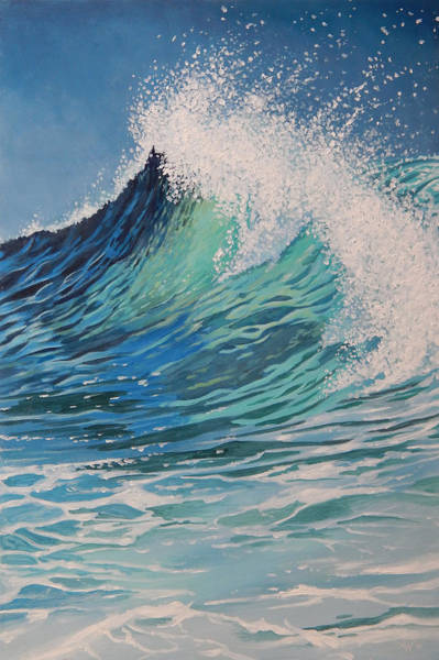 Spark Painting - Sparkling Turquoise by Arie Van der Wijst