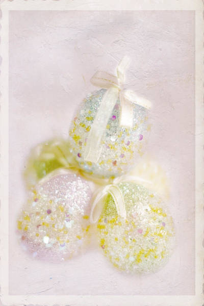 Sparkle Wall Art - Photograph - Sparkly Eggs by Rebecca Cozart