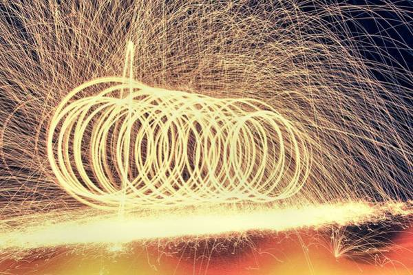 Steel Wool Photograph - Sparks by Dan Sproul