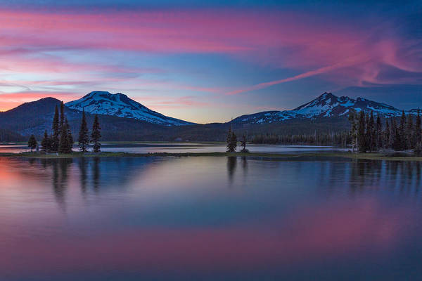 Sparks Lake Reflections Art Print
