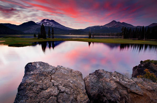 Wall Art - Photograph - Sparks Lake Sunset by Engin Tokaj