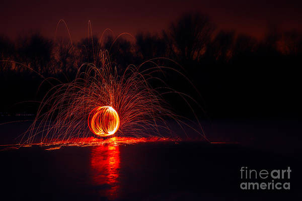 Steel Wool Photograph - Sparky by Todd Bielby