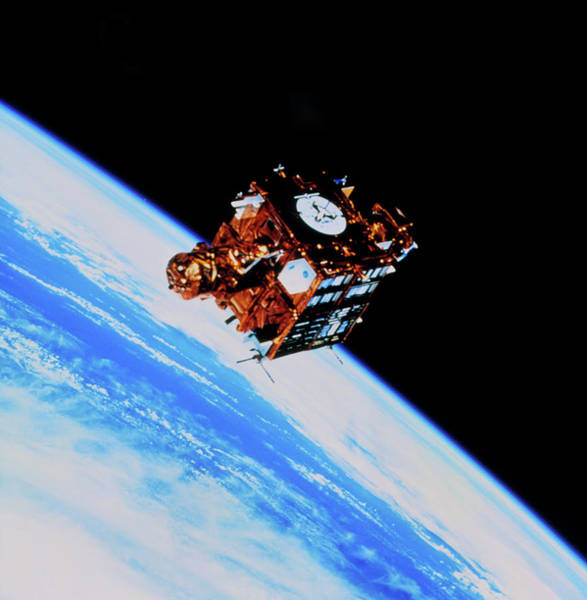 Spartan Wall Art - Photograph - Spartan-201 Satellite Before Retrieval by Nasa/science Photo Library