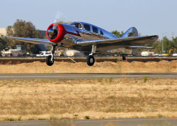 Photograph - Spartan 7w Executive Taking Off Nc17665 by John King