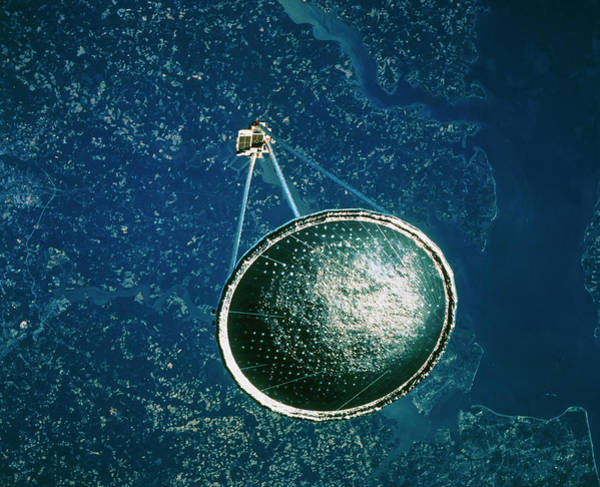 Spartan Wall Art - Photograph - Spartan Satellite With An Inflated Antenna by Nasa/science Photo Library