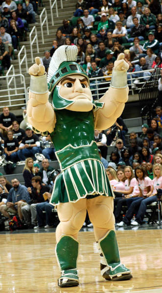 Wall Art - Photograph - Sparty At Basketball Game  by John McGraw