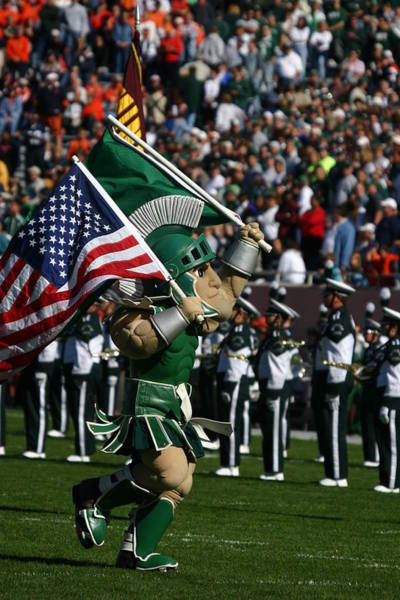 Wall Art - Photograph - Sparty At Football Game by John McGraw