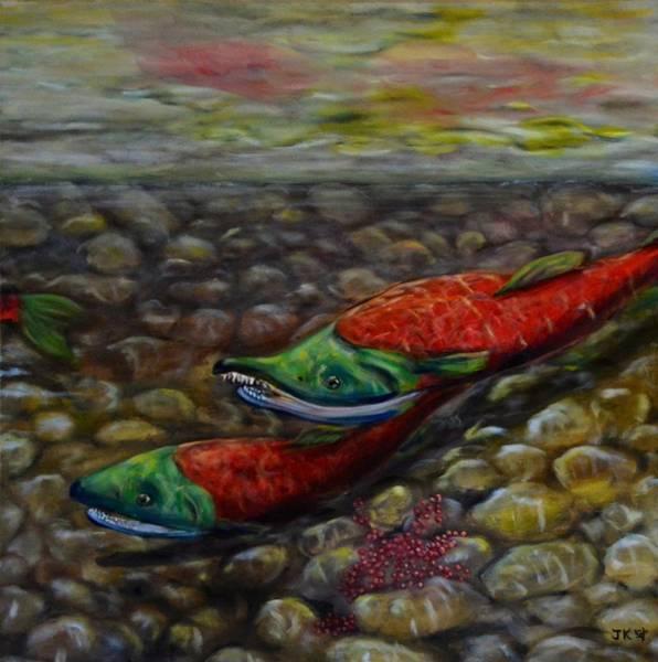 Spawn Painting - Spawning by Jennifer Kwon