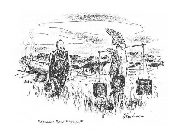 Pilots Drawing - Speakee Basic English? by Alan Dunn