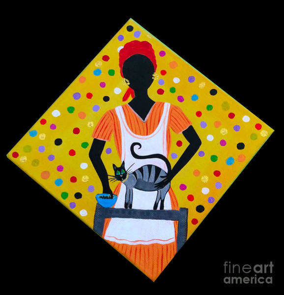 Gullah People Wall Art - Painting - Special Kitty by Samantha Claar