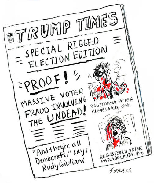 Wall Art - Drawing - Special Rigged Election Edition by David Sipress