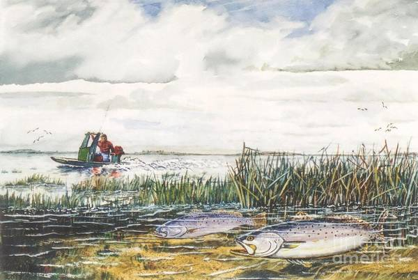 Wall Art - Mixed Media - Speckled Trout by Don Hand