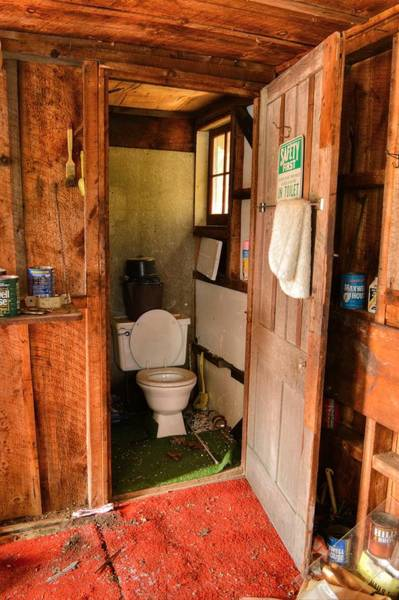 Toolshed Wall Art - Photograph - Spectacle Pond Workshop Toilet by Geoffrey Coelho
