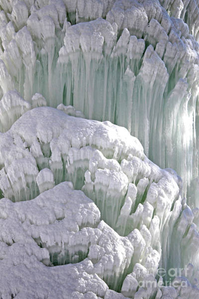 Photograph - Spectacular Ice Fountain In Letchworth State Park - 6 by Tom Doud