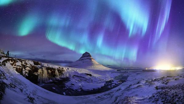 Spectacular Northern Lights Appear Over Mount Kirk Art Print by Ratnakorn Piyasirisorost