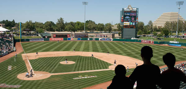 Raley Field Wall Art - Photograph - Spectator Watching A Baseball Match by Panoramic Images