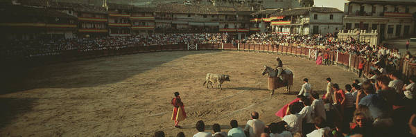 Matador Photograph - Spectators Watching Bullfighting by Animal Images