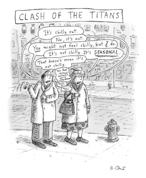 Seasonal Drawing - Speech Bubbles: It's Chilly Out by Roz Chast