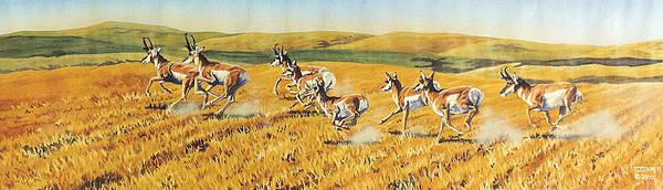 Painting - Speed Goats by Tim  Joyner