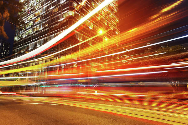 Central Business District Wall Art - Photograph - Speed Of Light by Blackred