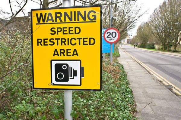 Motoring Photograph - Speed Warning by Tom Gowanlock