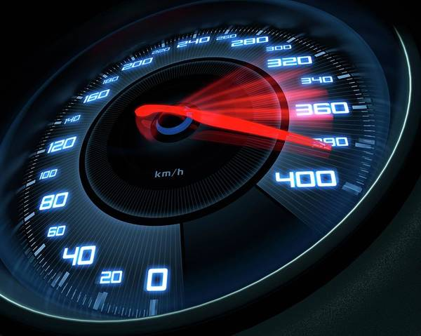 Dials Photograph - Speedometer by Ktsdesign/science Photo Library