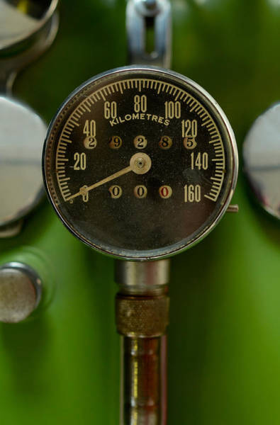 Wall Art - Photograph - Speedometer On A Vintage Harley Davidson by Mr Doomits