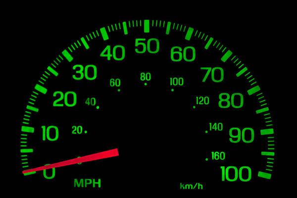 Photograph - Speedometer On Black Isolated by Gunter Nezhoda