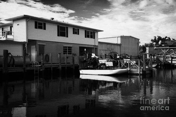 Airboat Photograph - Speedys Airboat Rides In Everglades City Florida Everglades by Joe Fox