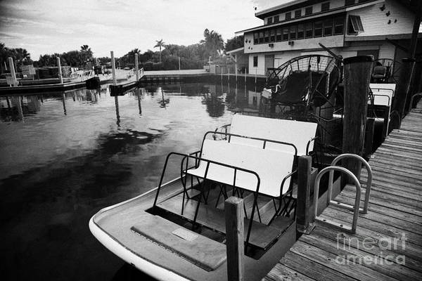 Airboat Photograph - Speedys Airboat Rides In Everglades City Florida by Joe Fox