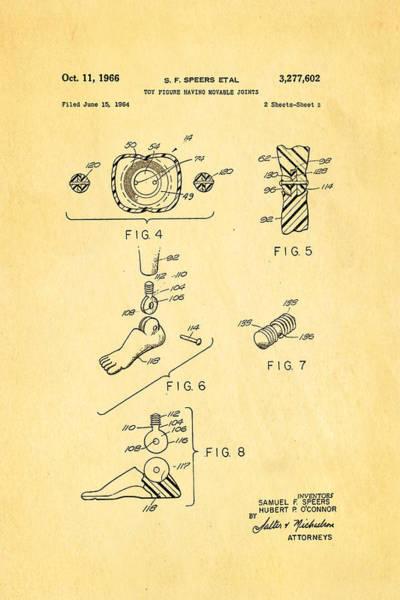 Gi Photograph - Speers G I Joe Action Man 2 Patent Art 1966 by Ian Monk