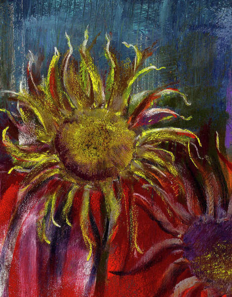 Painting - Spent Sunflower by David Patterson