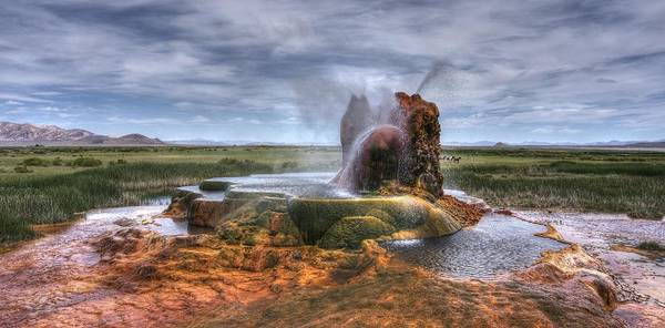 Photograph - Spewing Minerals At Fly Geyser by Peter Thoeny