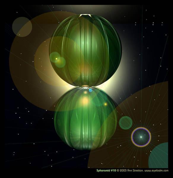 Digital Art - Spheramid 10  by Ann Stretton