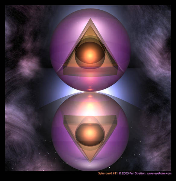 Digital Art - Spheramid 11  by Ann Stretton