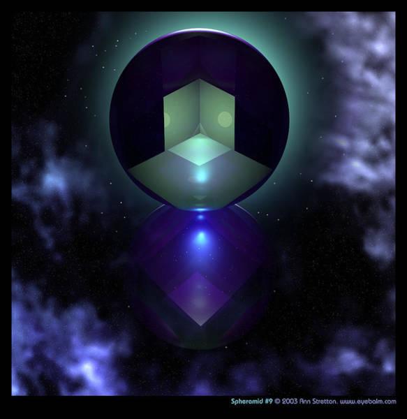Digital Art - Spheramid 9  by Ann Stretton