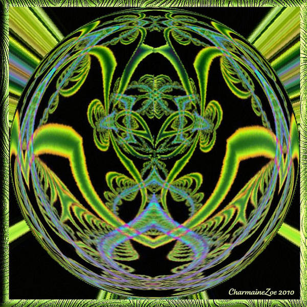 Digital Art - Spherical Art No 7 by Charmaine Zoe