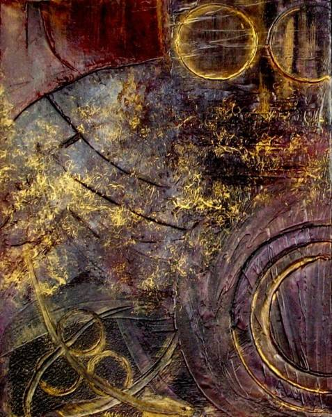 Arte Mixed Media - Spherical Romance Diptych Left by Holly Anderson