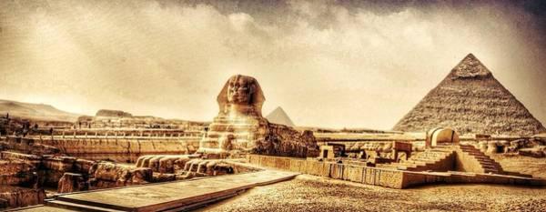 Wall Art - Photograph - Sphinx And Pyramid Of Chephren by Hosam Zienedden / Eyeem