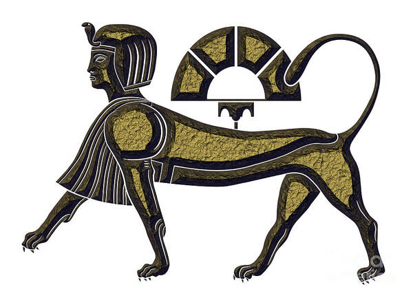 Wall Art - Digital Art - Sphinx - Mythical Creature Of Ancient Egypt by Michal Boubin