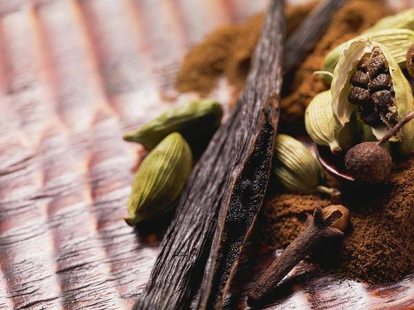 Wall Art - Photograph - Spices For Baking (vanilla Pods, Cardamom And Cloves) by Eising Studio - Food Photo and Video