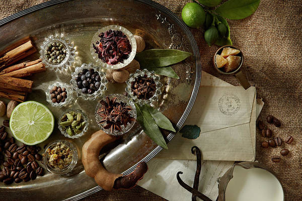 Tray Photograph - Spices by Lew Robertson