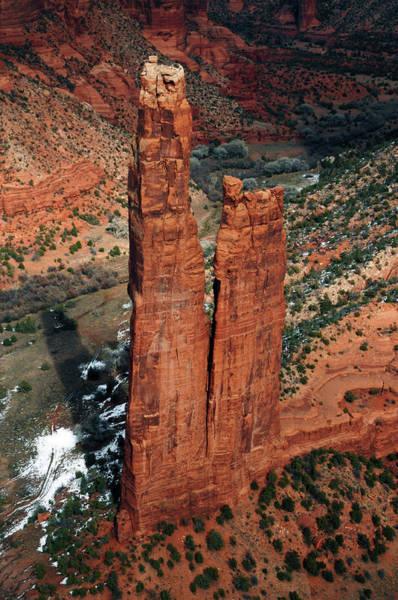 Spider Rock Photograph - Spider Rock, Canyon De Chelly, Chinley by Michel Hersen