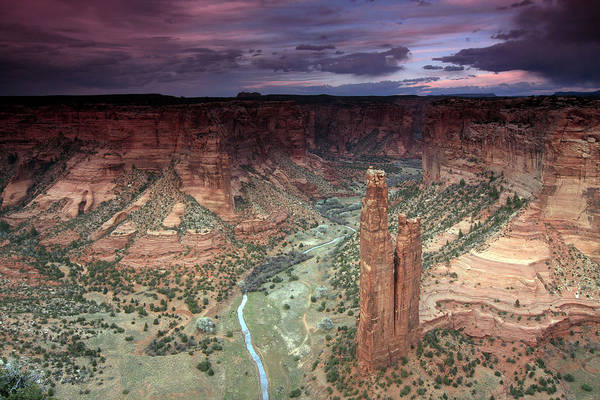 Spider Rock Photograph - Spider Rock Canyon De Chelly by Kenan Sipilovic