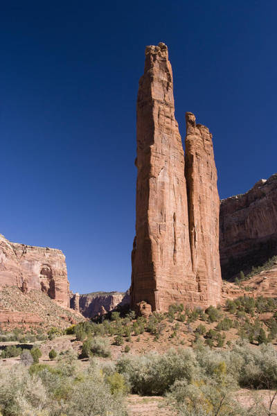 Spider Rock Photograph - Spider Rock Canyon De Chelly by Tom Vezo
