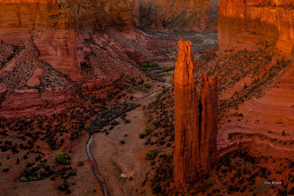 Wall Art - Photograph - Spider Rock Sunset by Tim Bryan
