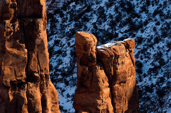 Spider Rock Photograph - Spider Rock by Theodore Clutter